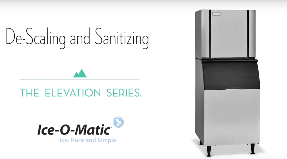 Tips for De-Scaling and Sanitizing Your Elevation Series Ice Machine