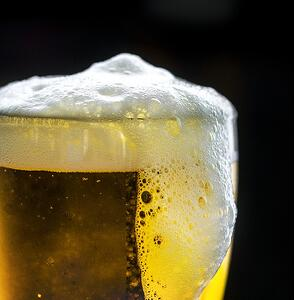 beer glass foam