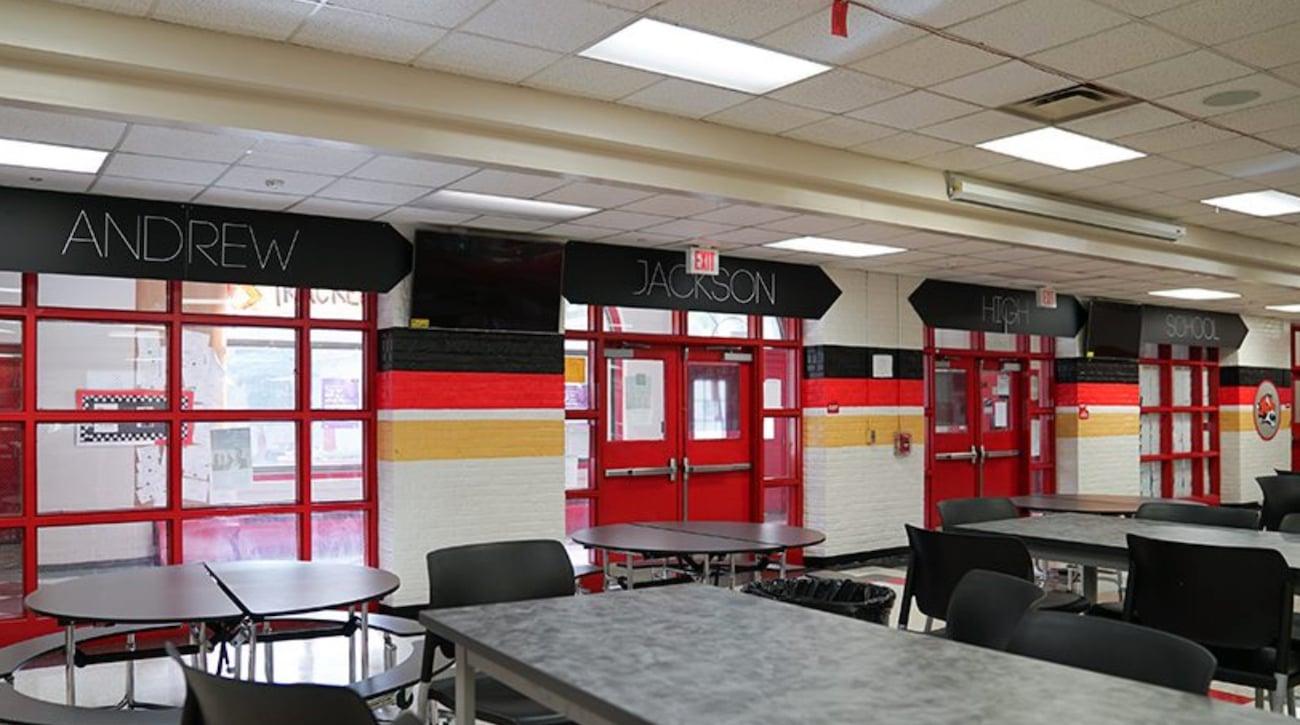 andrew jackson school cafeteria upgrade